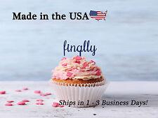 finally, Cupcake Topper, Wedding Decor, Bridal Shower, Finally Topper, LCT1021