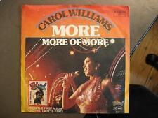 "Carol Williams ""more"" - 7"" single"