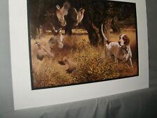 Bobwhite Quail and Pointer Remington Wildlife Exhibit