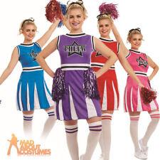 Ladies Cheerleader Costume Adult Fancy Dress Womens School Prom Cheers Outfit