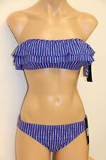 NWT Marc by Marc Jacobs Swimwear Bikini 2pc set Sz M XS Pure Blue
