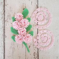 12 Rosa Fieltro claveles, Die Cut flores de fieltro, fieltro Clavel Flores, hágalo usted mismo Craft