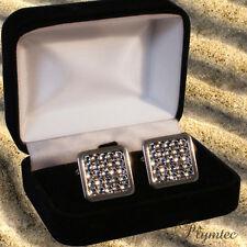 Gemelli Uomo Matrimonio con cristalli swarovski regalo Boxed Incisione