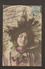 EXPRESSION DU VISAGE / FEMME AU CHAPEAU ... IRONIE ... avant 1904