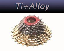 111g Alu/Titanium CASSETTE 12-27,12-25,fits shimano campagnolo record,chorus,red