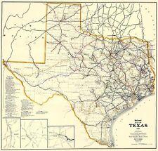 Old Railroad Map - Texas Railroads - Dodge 1926 - 23 x 24.11