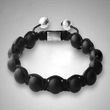 Herren Onyx Edelstein Naturperlen Armband Shamballa für Männer ,verstellbar