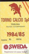 ABBONAMENTO STADIO- TORINO CALCIO- ANNO 1984/85