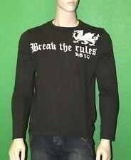 RG512 Men's 100% Cotton Dark Khaki Break the Rules Dragon Shirt W27232 Sz 2XL