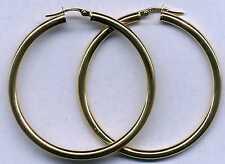vero 9ct 375 oro giallo e bianco cerchio/cerchietto orecchini 14mm 33mm 43mm