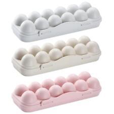 Egg Tray Holder Home Storage Box Kitchen Fridge Crisper Container Organizer #Cu3