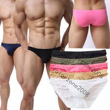 5Pcs Mens Boxer Briefs Shorts Soft Thongs Underwear Bulge Pouch Underpants Solid