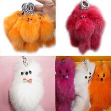 1X Large Faux Fur Tail Tassel Bag Tag Phone Handbag Pendant Keychain Keyring