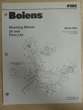 FMC BOLENS 20 INCH MULCHING MOWER 8621 PARTS LIST MANUAL