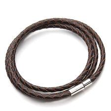 Véritable Bracelet Tressé Cuire homme, femme. 100% fashion bonne idée cadeaux