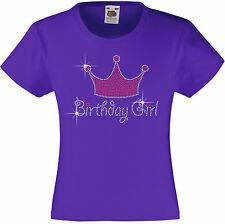 Geburtstag Mädchen, Tiara Strass / verziert T-Shirt Geschenkidee für Mädchen