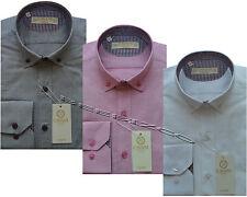 Mens Designer CAVANI Oxford Stylish Formal Slim Fit Dress Shirt Long Sleeved