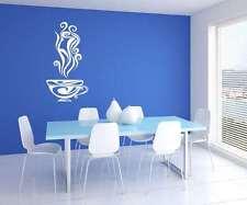 CUCINA CAFFè LADY ARTE MURO VINILE Decor Adesivo Decalcomania Murale Stencil GRAPHIC
