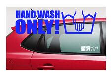 HAND WASH ONLY Aufkleber Fun Sticker 15 x 4,5 cm Freie Farbwahl