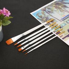 6pcs Nylon Hair Artist Paint Brush Set  Watercolor Acrylic Oil Painting Drawing