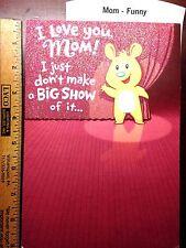 MOTHER HAPPY BIRTHDAY CARD MOM BIRTHDAY FUNNY X-LARGE  CARD Choice 12 HALLMARK