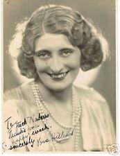 Vera Hilliard personally signed photo, COA