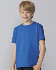 Gildan Estilo Suave JUVENTUD algodón hilado EN ANILLOS Camiseta Lisa