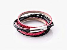 Red Snakeskin Wrap Around Double Layer Bracelet