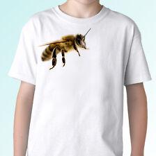 Bee Blanc T Shirt Insecte Animal Tee Top Design-Homme Femme Enfants Bébé Tailles