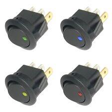 Wippschalter rund EIN/AUS 12V LED beleuchtet / 12 Volt mini Schalter KFZ &Co