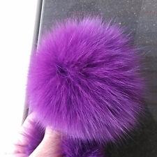 1PCS Fluffy Real Fox Fur Pom Pom Ball for Keychian Bag 9cm