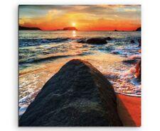 Naturfotografie –  Ozean bei Sonnenaufgang auf Leinwand