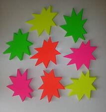 1000 Sterne 150 x 170 mm neon Karton  Werbung Schaufenster Preisschild Schild