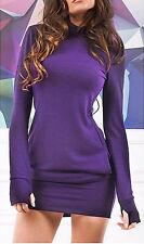 Vestito Mini Maglia Autunno Donna - Woman Autumn Mini Dress 110210