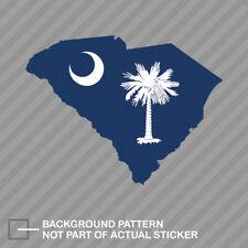 South Carolina State Shaped Flag Sticker Decal Vinyl SC