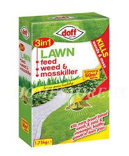 DOFF 3 IN 1 LAWN FEED WEED & MOSS KILLER GRASS FERTILISER GARDEN TREAMENT