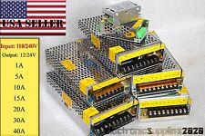 110/240V to DC 12V 1A 5A 10A 15A 20A 30A 40A Regulated Transformer Power Supply