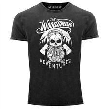 Cooles Angesagtes Herren T-Shirt Vintage Shirt Lumberjack Woodsman Hipster Bart