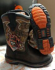 Cebu Brown Toro Bravo Men Leather Steel Toe Work Safety Boots Slip Resistant