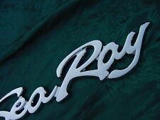 """SEA RAY SEARAY SCRIPT CHROME EMBLEM BADGE BOAT LOGO  12-3/4"""" NEW HAPPY BOATING!!"""