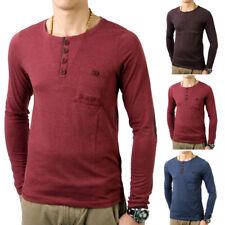 Sublevel Herren O-Neck Longsleeve SL-20199 Longshirt Sweatshirt Hemd T-Shirt
