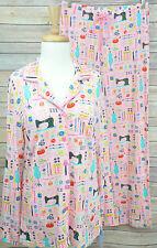 NICK & NORA NWT Pink Sewing Seamstress Sleepwear Pajama Set PJs