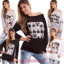 Pull femme jersey coton manches longues variées fantasie motif à fleurs diva