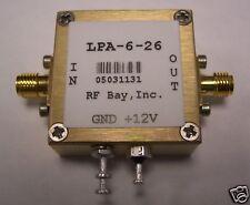 100-6000MHz Wideband RF Amplifier, LPA-6-26, New, SMA
