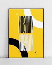Impresión De COPENHAGUE København! Artes Gráficas, Viajes, Turismo, Diseño, cartel amarillo