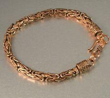 "Solid Copper Byzantine Borobudur Chain Mail Maille Bracelet 8 1/2"" 7 1/2"" inside"