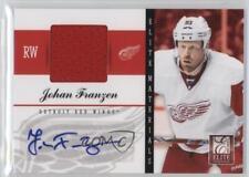 2011-12 Panini Elite Materials Autographs Autographed 26 Johan Franzen Auto Card