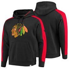 NHL Fanatics Chicago Blackhawks Iconic Fleece Hooded Sweatshirt Pullover Hoodie