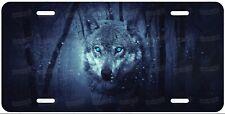 Wolf Blue Eye Animal Artwork Customized License Plate For Car ATV Moped Bike