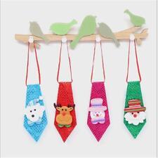 Xmas Christmas Santa Tie Children Gift Party Hanging Decor Ornaments New Y